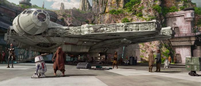 Millennium Falcon theme park ride