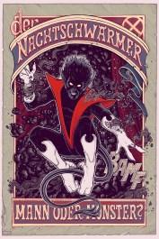 "Nightcrawler (Variant) by Florian Bertmer 24"" x 36"" screen print. Edition of 125."