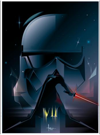 Orlando Arocena Star Wars Force Awakens fan art