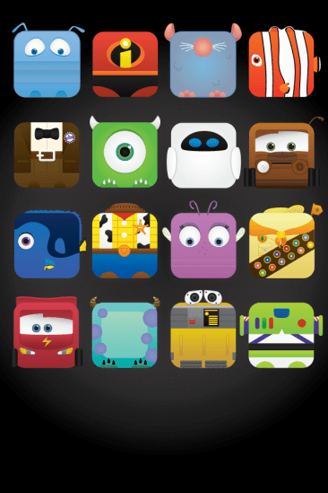 Pale Designs Pixar iPhone Black