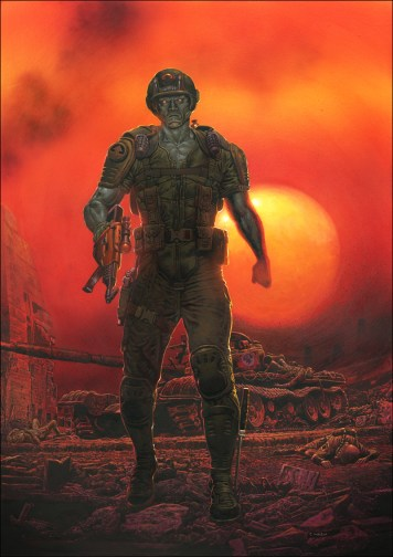 Rogue Trooper painting