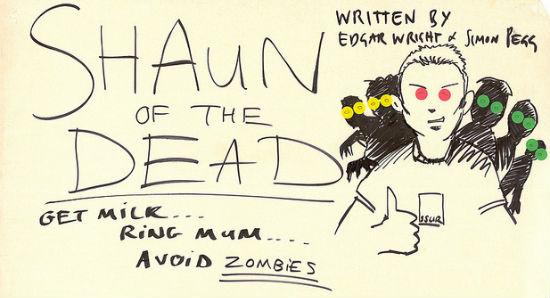 Shaun of the Dead Script Header