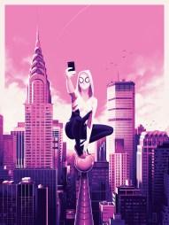 "Spider-Gwen by Phantom City Creative 18"" x 24"" screen print. Edition of 175."