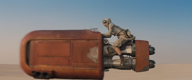 Star Wars The Force Awakens rey speeder 2