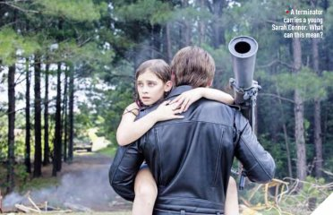 Terminator Genisys Empire - Terminator and young Sarah