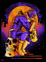 """Thanos by We Buy Your Kids 18"""" x 24"""" screen print. Edition of 125."""