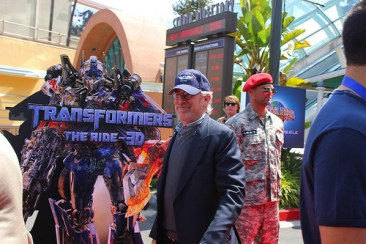 Transformers The Ride 3D grand opening - Steven Spielberg