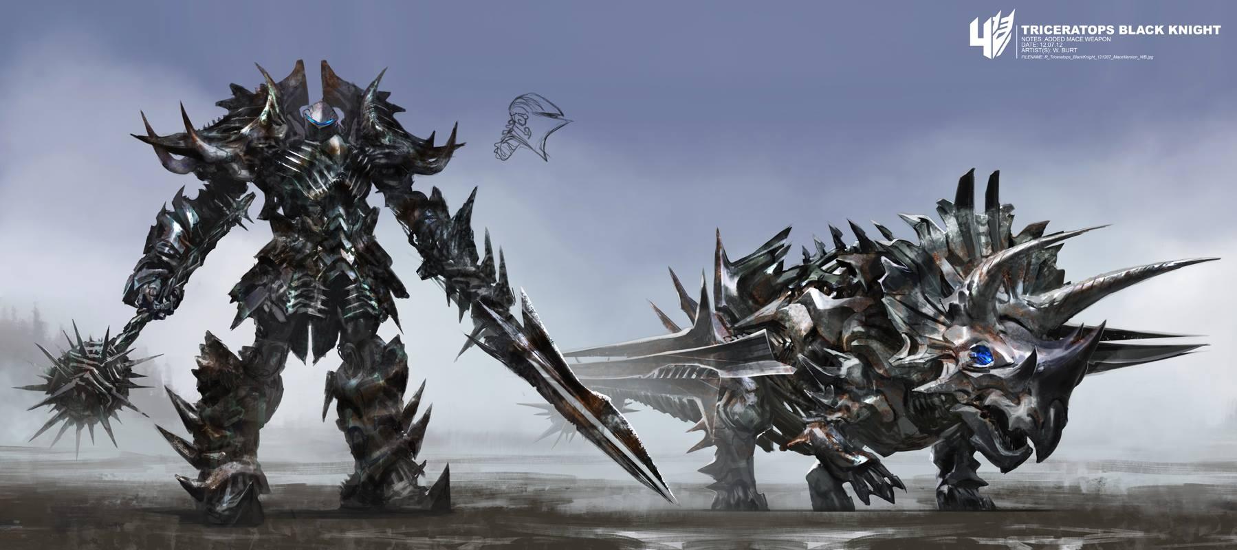 Transformers 4 Dinobots Concept Art By Wesley Burt
