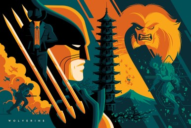 """Wolverine by Tom Whalen 36"""" x 24"""" screen print. Edition of 325."""