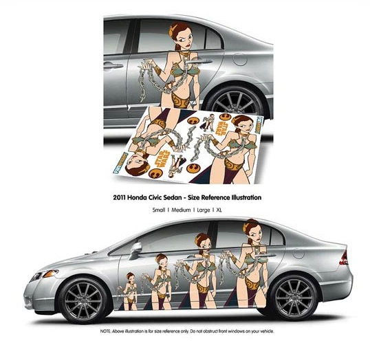 Star Wars Slave Leia FanWraps Car Decal