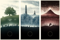 Marko Manev's Awesome LORD OF THE RINGS Glow-in-the-Dark Triptych Set