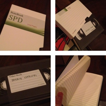 Retro Style VHS Video Tape Notebook