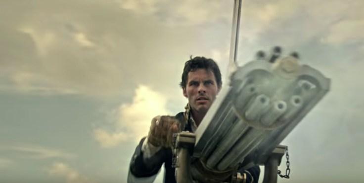 teddy with the gatling gun in Westworld