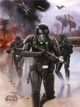 Rogue One artwork - death trooper beach