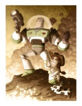 """Otis Frampton's """"Buzz Lightyear and Jessie"""" - Toy Story"""