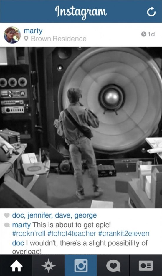 If Marty From Back to the Future Had Instagram