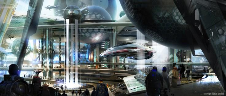 Stephan Martiniere - Guardians Concept art spartoi city mall