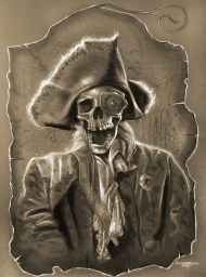 """Eric Braddock's (Goonies) """"The First Goonie"""" 18x24"""" Pencil, white charcoal and pastel on paper"""