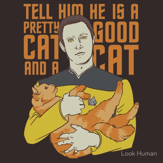 Data And His Cat Spot T-Shirt