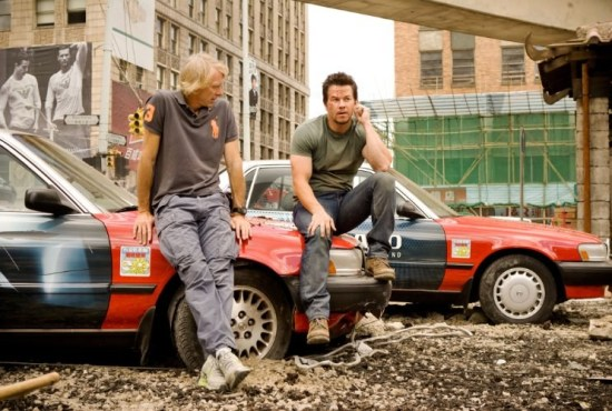 michael bay and mark wahlberg on transformers 4