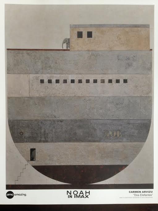 "Carmen Arviz, ""Dos Elefantes"" Noah art print"