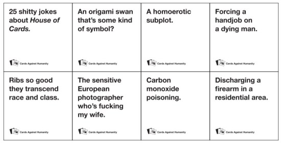 Cards Against Humanity released a House of Cards-themed pack