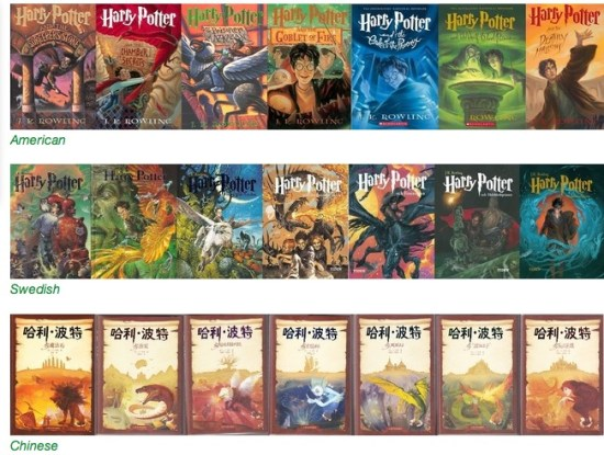 Harry Potter Book Covers from Around the World