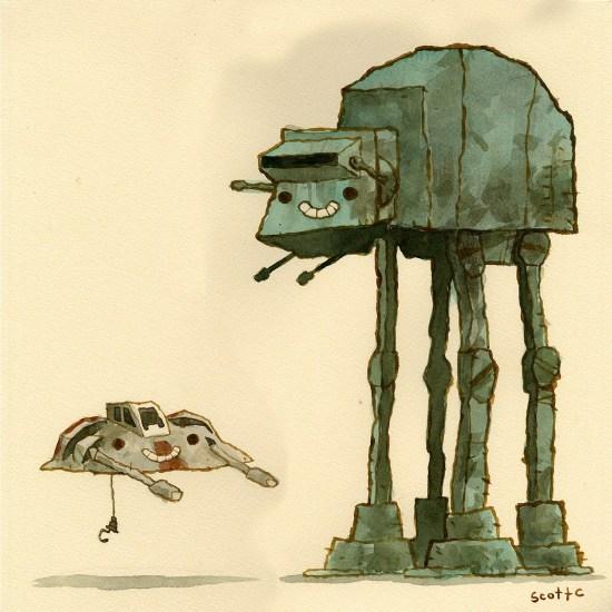 Scott C's Great Showdown tribute to The Empire Strikes Back
