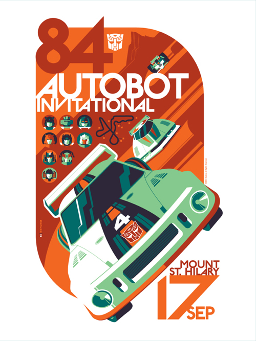 """AUTOBOT Invitational"" Transformers Print by Tom Whalen"