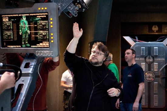 """GUILLERMO DEL TORO on the set of the sci-fi action adventure """"Warner Bros. Pictures and Legendary Pictures PACIFIC RIM"""