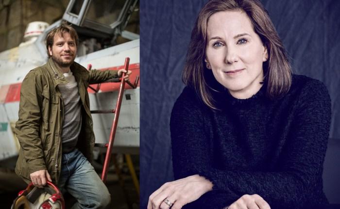 Gareth Edwards and Kathleen Kennedy