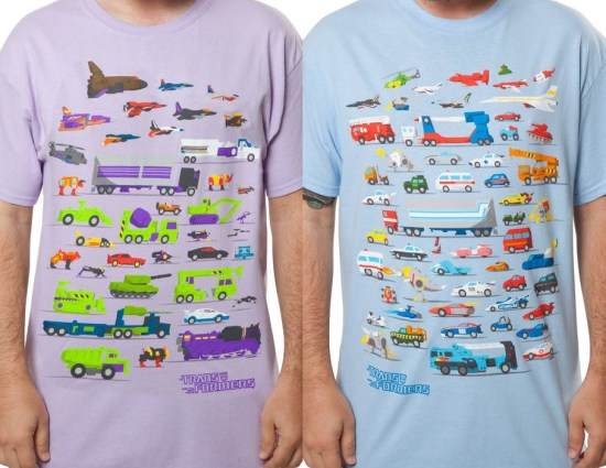 Florey's Transformers t-shirts