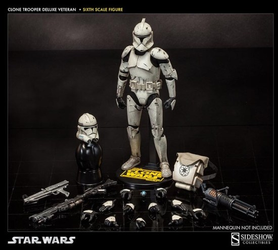 Clone Trooper Deluxe: Veteran The Clone Wars Militaries of Star Wars Sixth Scale Figure