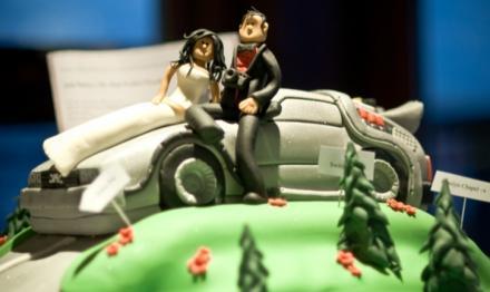 Back to the Future Wedding Cake