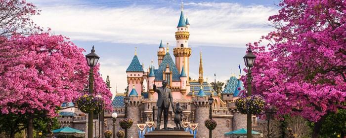 Disney Theme Park in the Snow