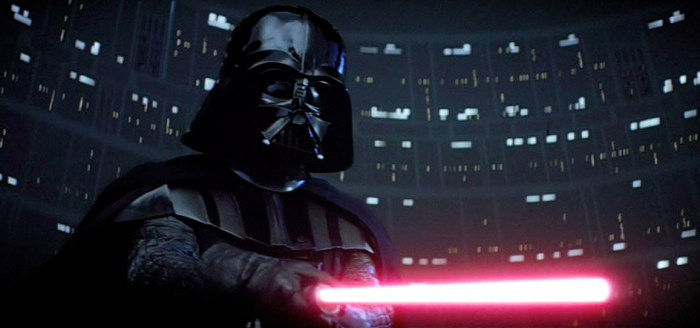 Why Are Dark Side Lightsabers Red - Darth Vader