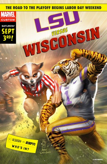 ESPN and Marvel - LSU vs Wisconsin