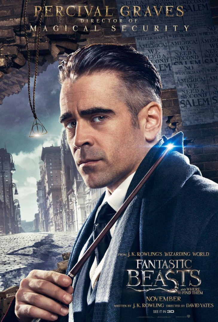 Fantastic Beasts and Where to Find Them Character Poster - Percival Graves