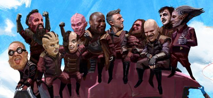 Guardians of the Galaxy 2 Comic-Con Art