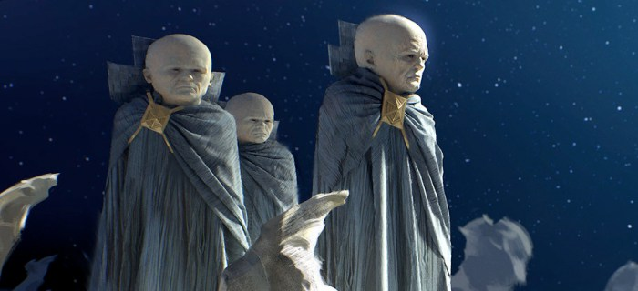 Guardians of the Galaxy Vol. 2 Concept Art - The Watchers and Stan Lee