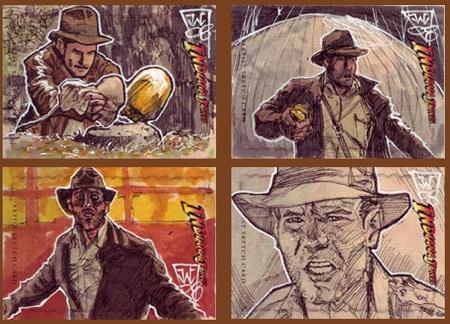 Indiana Jones Artist Sketch Cards