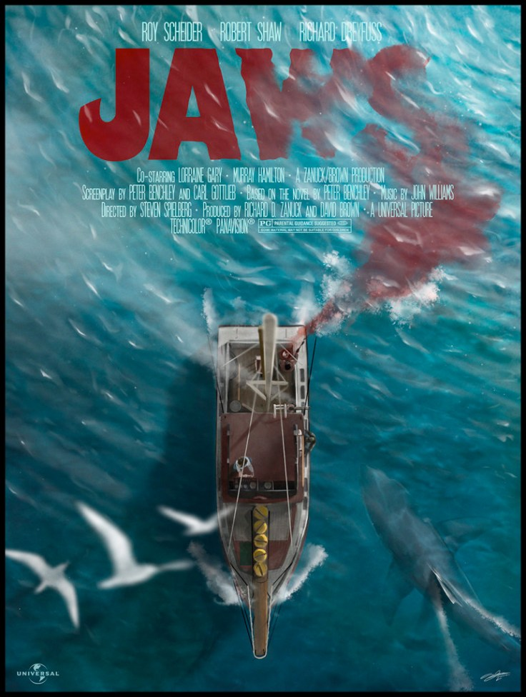 See the 40th Anniversary Poster Posse Jaws Artwork Tribute