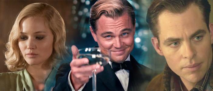 Jennifer Lawrence, Chris Pine and Leonardo DiCaprio