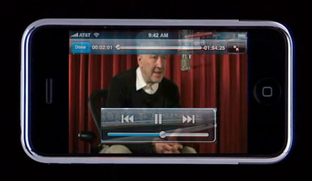 David Lynch on iPhone
