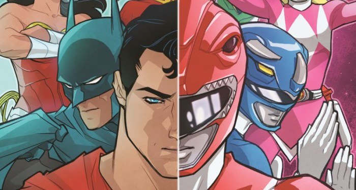 Power Rangers and justice League Crossover Comic