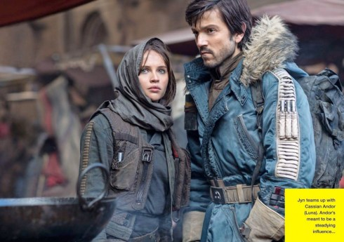 Rogue One: A Star Wars Story - Empire Photo - Felicity Jones and Diego Luna