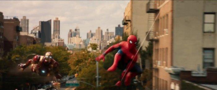spiderman homecoming trailer shot