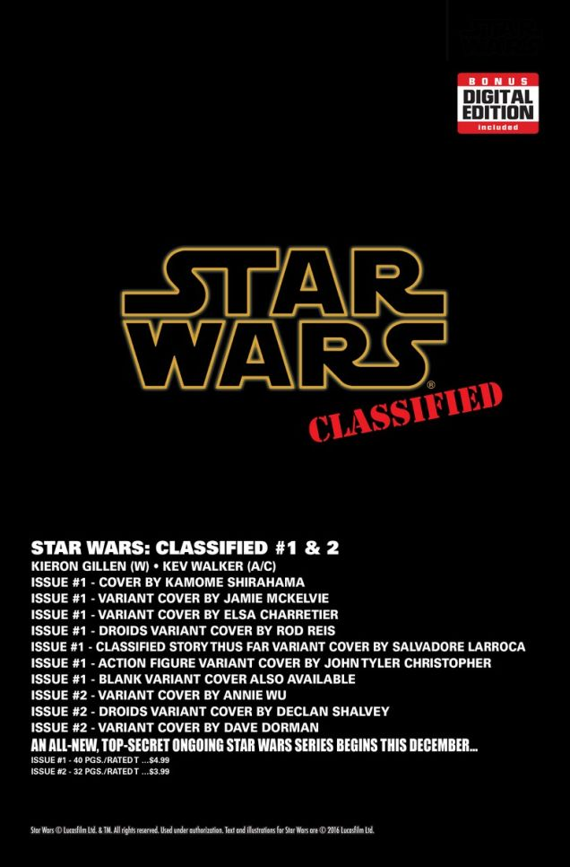 star wars classified