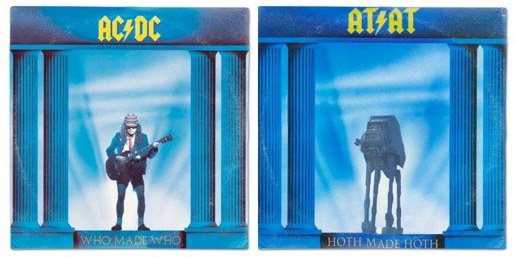 Star Wars vinyl mash-up albums - ACDC