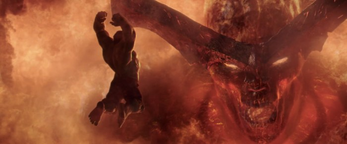 Thor Ragnarok - Hulk vs Surtur